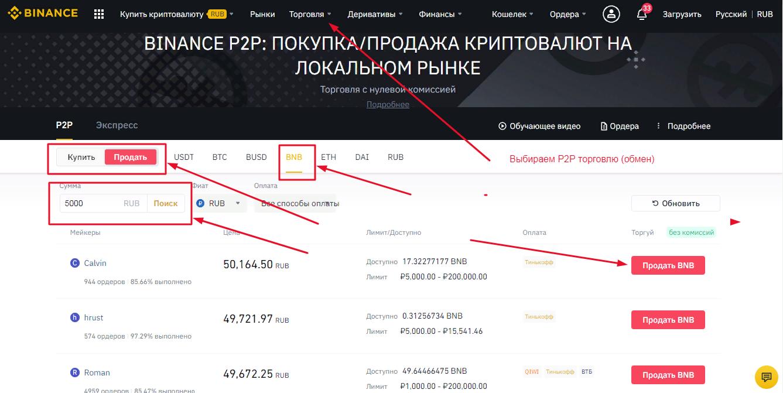обмен bnb на рубли